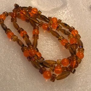 Vintage lucite beads necklace
